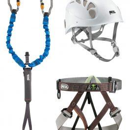 KIT CAMP FERRATA (kit completo per ferrata casco, dissipatore e imbragatura)